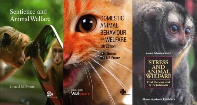 브룸 교수의 저서들 중 일부. 동물복지과학과 도덕, 윤리의 진화 등 동물 복지와 관련한 다양한 책을 남기고 있다. - 아마존 외 제공